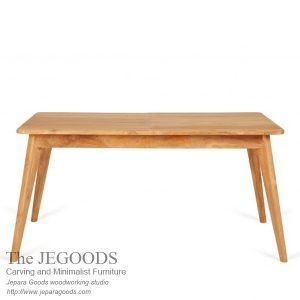 the Jegoods Woodworking Studio Furniture Indonesia, design and produce teak retro minimalist dining table Indonesia furniture craftsman at factory price.