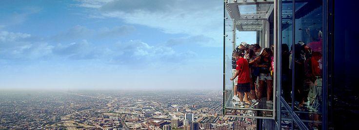 Vista aérea de la ciudad de Chicago desde la cima de la Torre Willis, antes conocida como la Torre de Sears, que aún es la más alta de Estados Unidos.