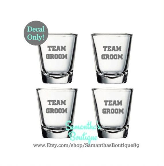 Best Wedding Shot Glass Decals Images On Pinterest Set Of - Vinyl decals for shot glasses