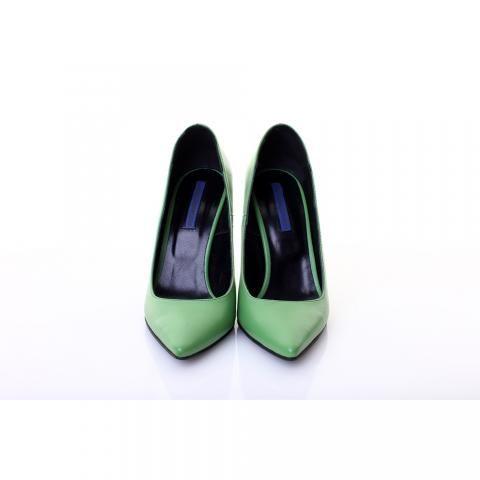 Pantofi piele verde | The Boutique