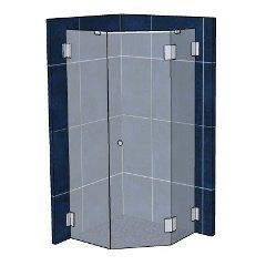 Háromrészes, 135 fokos sarok zuhanykabin