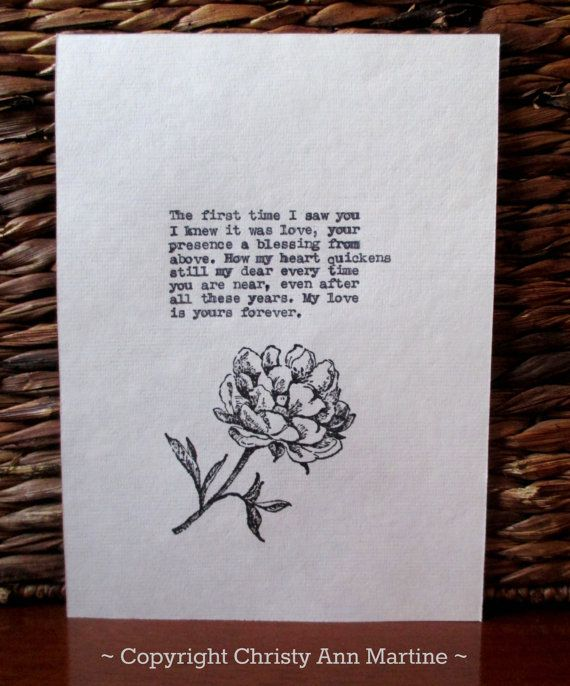 Romantic Love Sayings  Christmas or by Christy Ann Martine on Etsy ~ Anniversary or Christmas gift for husband or wife