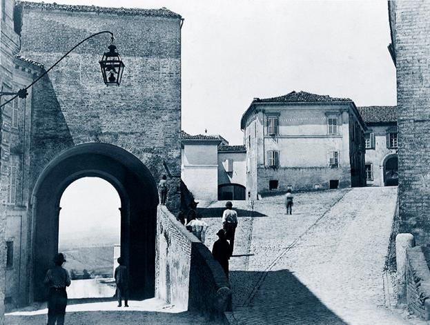 Porta Romana - Recanati, 1868. Archivio fotografico F.lli Buschi