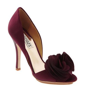 "Bordo Satin ""Randall"" pump by Badgley Mishchka $99"