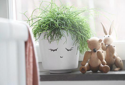 Maak van een plantenpot schattige #decoratie voor de #kinderkamer met deze leuke #DIY!