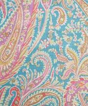 Turquoise Felix Raison Print Linen Union - Liberty