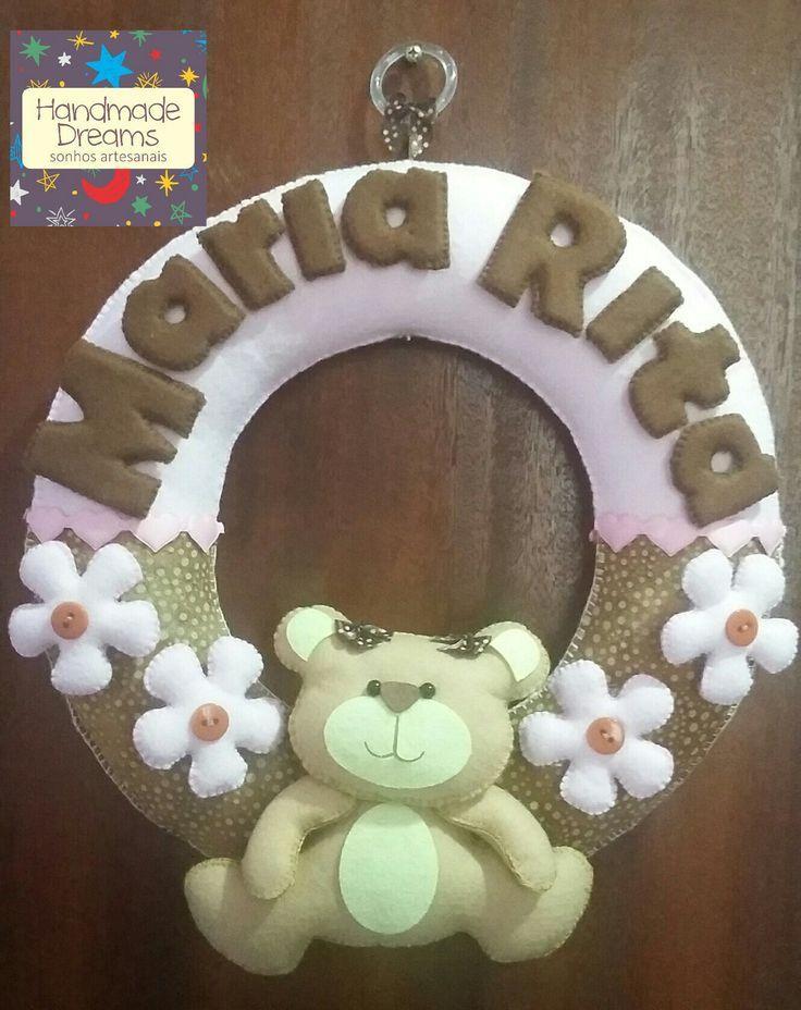 Guirlanda maternidade tema urso feita por Thais Verly