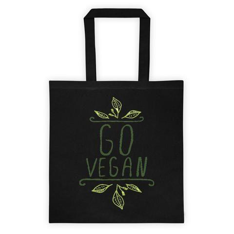 'Go Vegan' Tote bag