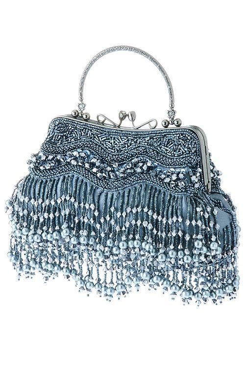 wholesale rhinestone purses and handbags | WHOLESALE JEWELRY TOWN : METAL BEAD FRINGE EVENING PURSE