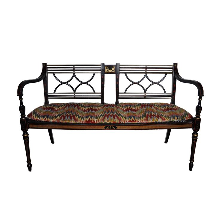Baker Furniture - Historic Charleston Regency Style Painted Settee Loveseat by DorseyAntiques on Etsy https://www.etsy.com/listing/386383068/baker-furniture-historic-charleston