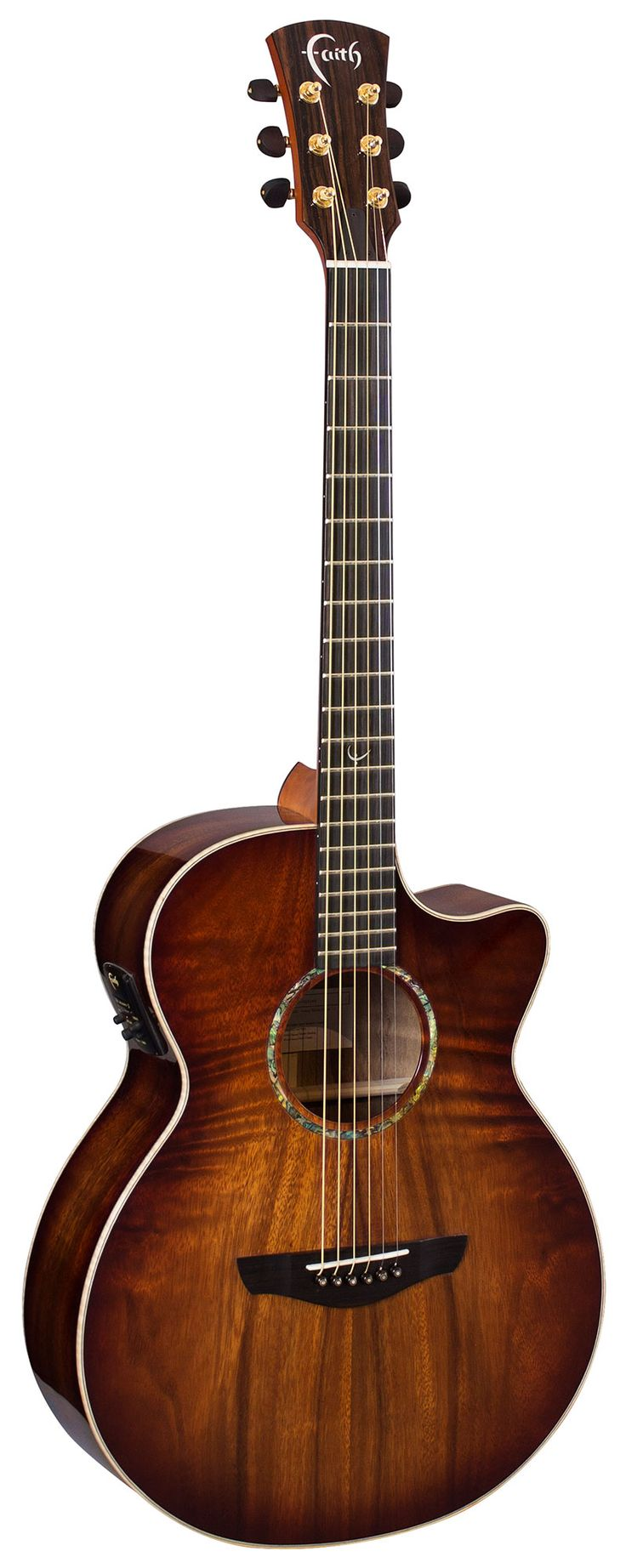 FVBMB - Venus Cut/Electro - Faith Guitars | Patrick James Eggle | Natural, Trembesi, Hi-Gloss, Eclipse series acoustic, electro acoustic, cutaway guitars | Barnes and Mullins Ltd