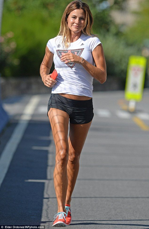 Hot to trot: Kelly Bensimon showcased her athletic physique when she went for a run in New York on Wednesday