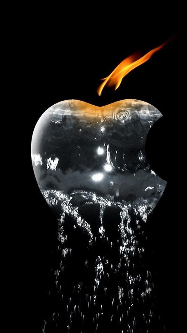 Apple logo water form