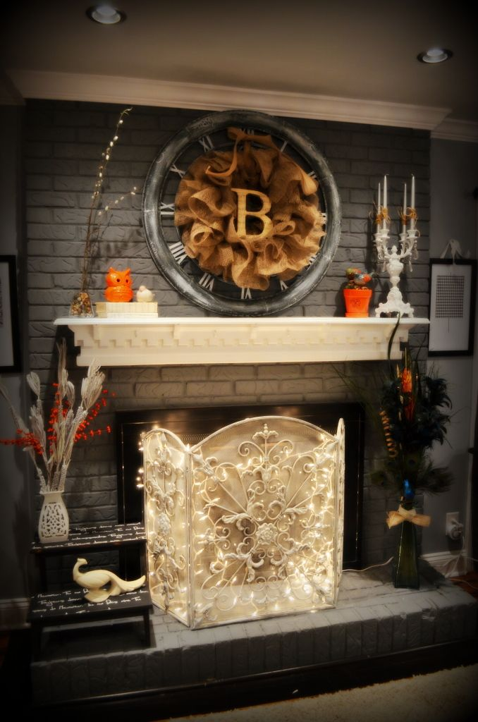 17 best images about fireplace make over on pinterest for Colors to paint a fireplace