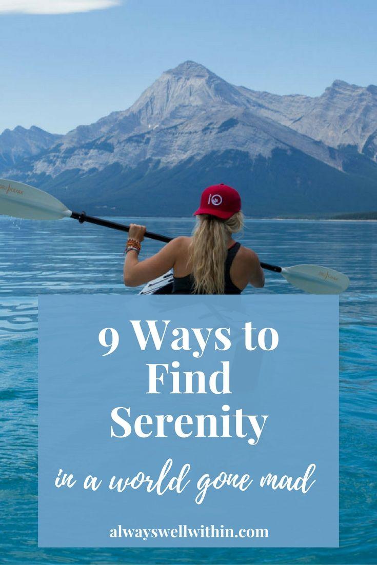 Finding serenity + peace in stressful times. via @sandrapawula