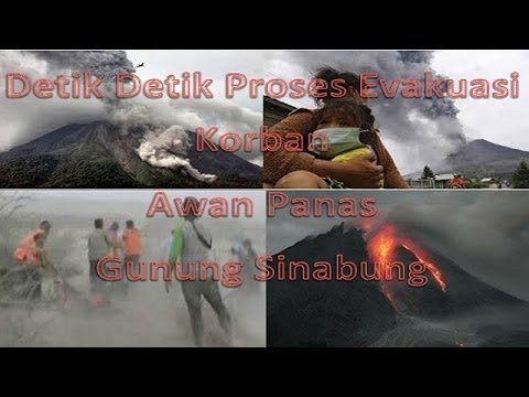 Detik Detik Proses Evakuasi Korban Awan Panas Gunung Sinabung