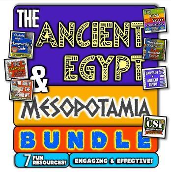 Ancient Egypt and Mesopotamia Bundle! 7 Fun Resources for Egypt & Mesopotamia!