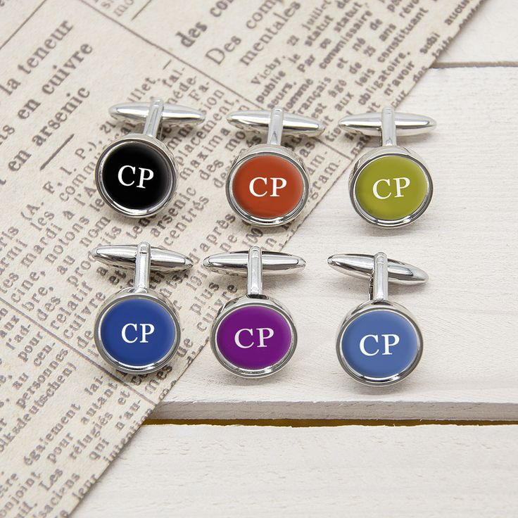 Set Of 6 Multiway Initial Cufflinks - yourgifthouse