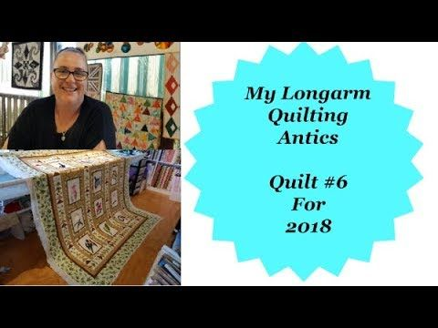 My longarm Quilting Antics Quilt #6 for 2018