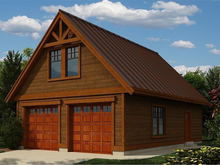 Garage plans detached garage plans garage pinterest for Detached garage with bonus room plans
