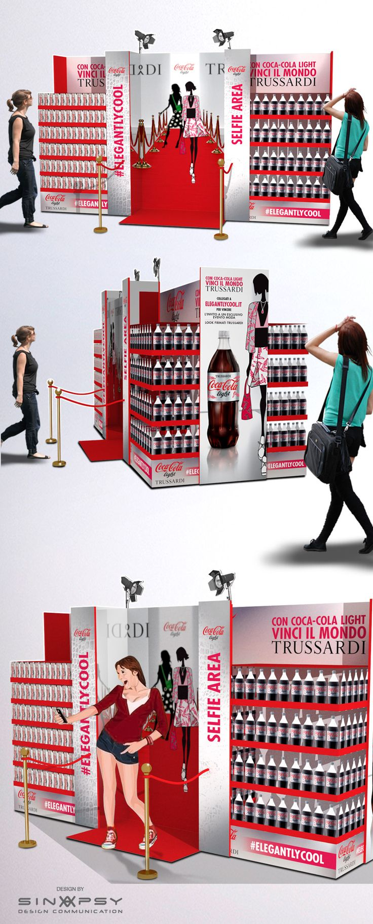 POS Coca-cola light - Trussardi