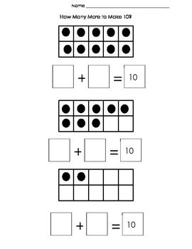 How Many More to Make 10? Ten Frame Addition