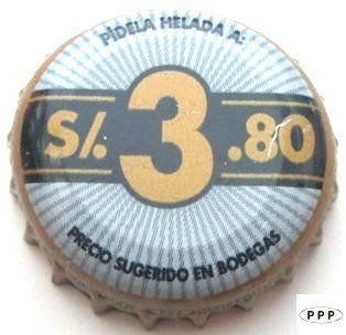 Tapa de botella: Cristal (Unión de Cervecerías Peruanas Backus y Johnston, Perú) Col:BE-PE-0065