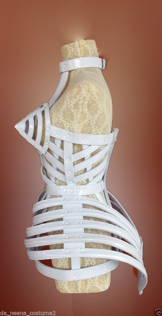 Madonna Copy Cone Bra Pointy Cage Tail Leather Costume by DaNeeNa