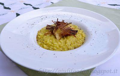Giuli Foodie: Risotto allo Zafferano con Carciofi Croccanti