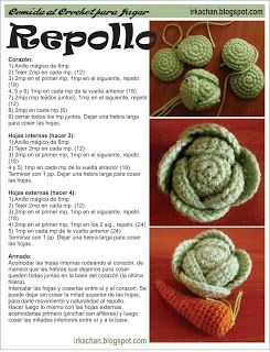 Irka!: Comida al Crochet - parte 1. Spanish Pattern. #Food #Amigurumi