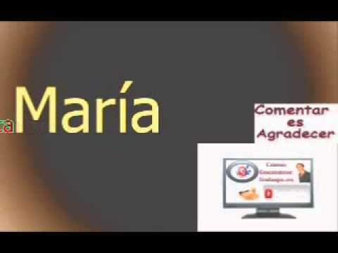 Significado del Nombre, María
