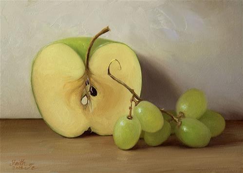 """Green Fruits"" - Original Fine Art for Sale - © Faith Te"