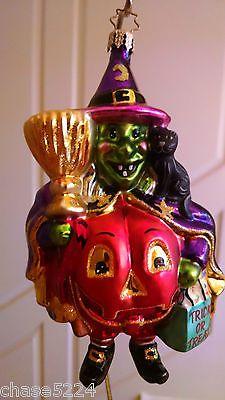 Vintage-Christopher-Radko-Halloween-Ornament-WANDA-WITCH-TRICK-OR-TREAT