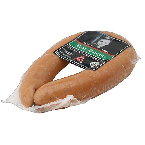 Alex's Meat Vacuum Packed Ring Bologna:   Vacuum Packed Ring Bologna can be simply enjoyed by heating up package.