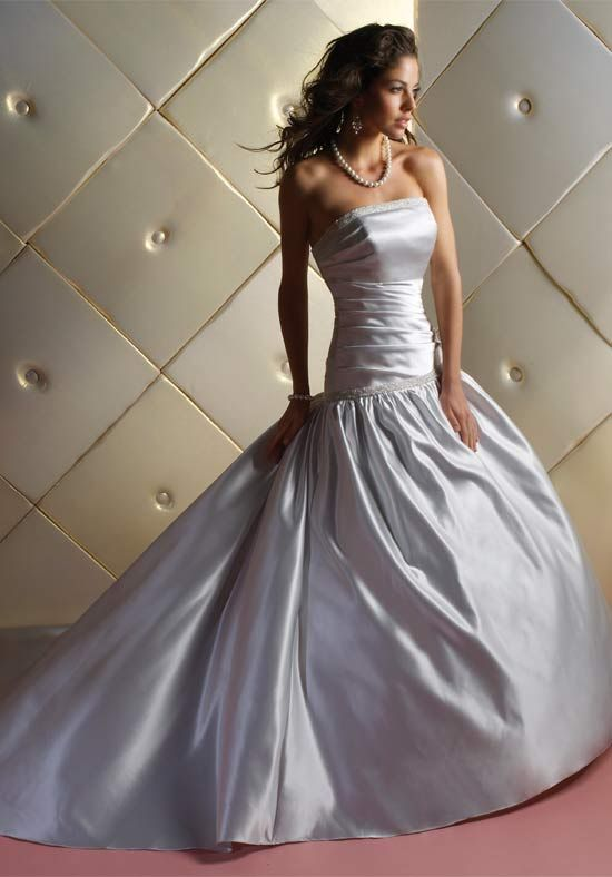 44 best images about sweet 16 dress on pinterest eye for Silver satin wedding dress