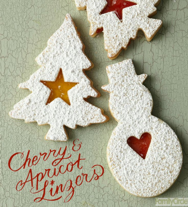 Cherry & Apricot Linzers #christmas #holiday #cookies