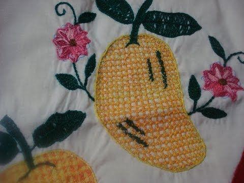 Como Bordar Puntada Fantasia Mango