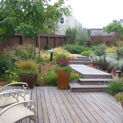 Australian Native Garden Design Back Garden - no grass, just plants & decking