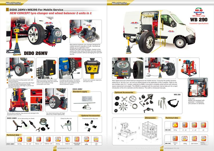 #Wheel #Service  #DIDO 26MV+WB290 for #Mobile #Service  New concept #tyre #changer and #wheel #balancer 2 units in 1