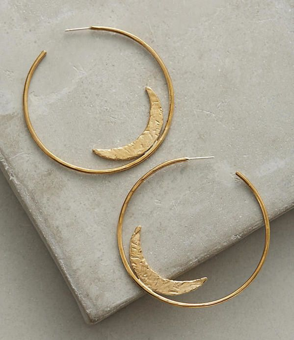 Dazzling half moon hoop earrings for night owls and dreamers alike. | 32 Gifts That Are Prettier Than You