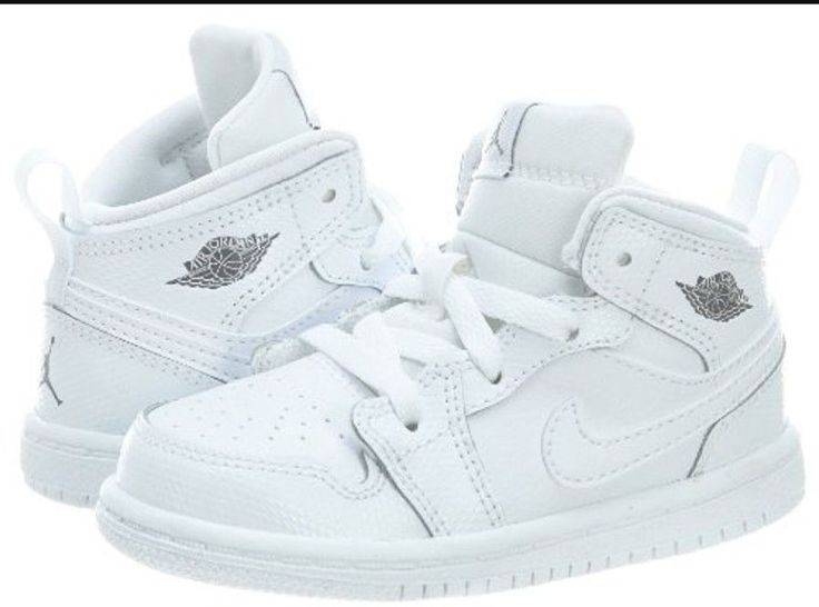 Nike Air Jordan AJ1 mid 10 toddler shoes white 640735-120   Clothing, Shoes & Accessories, Baby & Toddler Clothing, Baby Shoes   eBay!