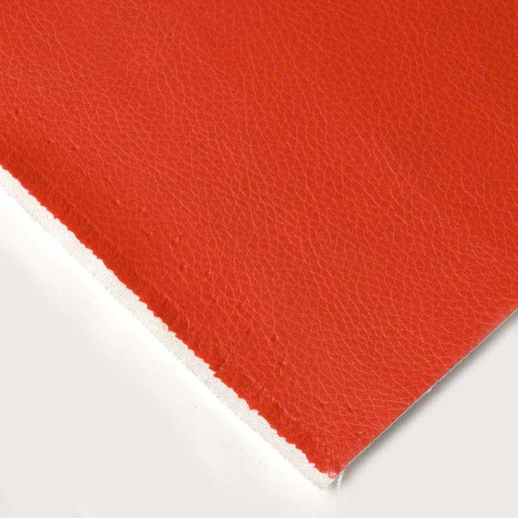Pvc Tapiceria Ballade - Esta colección de telas de PVC imitación napa viene en cinco colores y es perfecta para forrar objetos, tapizar o confeccionar álbumes de fotos, para ropa. #MWMaterialsWorld #red #rojo #tela  #manualidades #confeccion