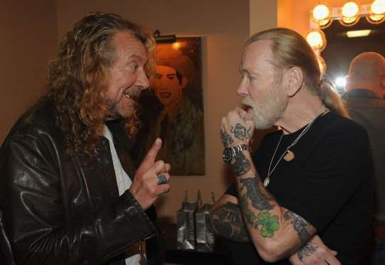 Robert Plant (L) and Gregg Allman are seen backstage at the 10th Americana Music Association honors ... - Rick Diamond, Getty Images
