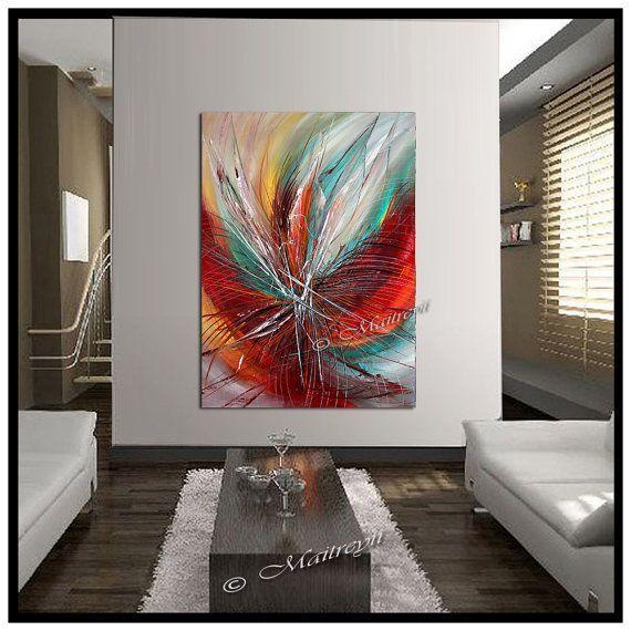 Überfüllt Leidenschaft Original-abstrakte Malerei von largeartwork