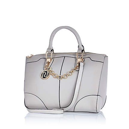 A bag to complete your tennis watching outfit! Grey chain trim bowler bag #riverisland