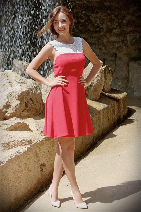 Vestido Pique Blonda