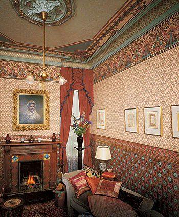 Bradbury & Bradbury Art Wallpapers > Victorian > The Dresser Tradition > Dresser I Roomset