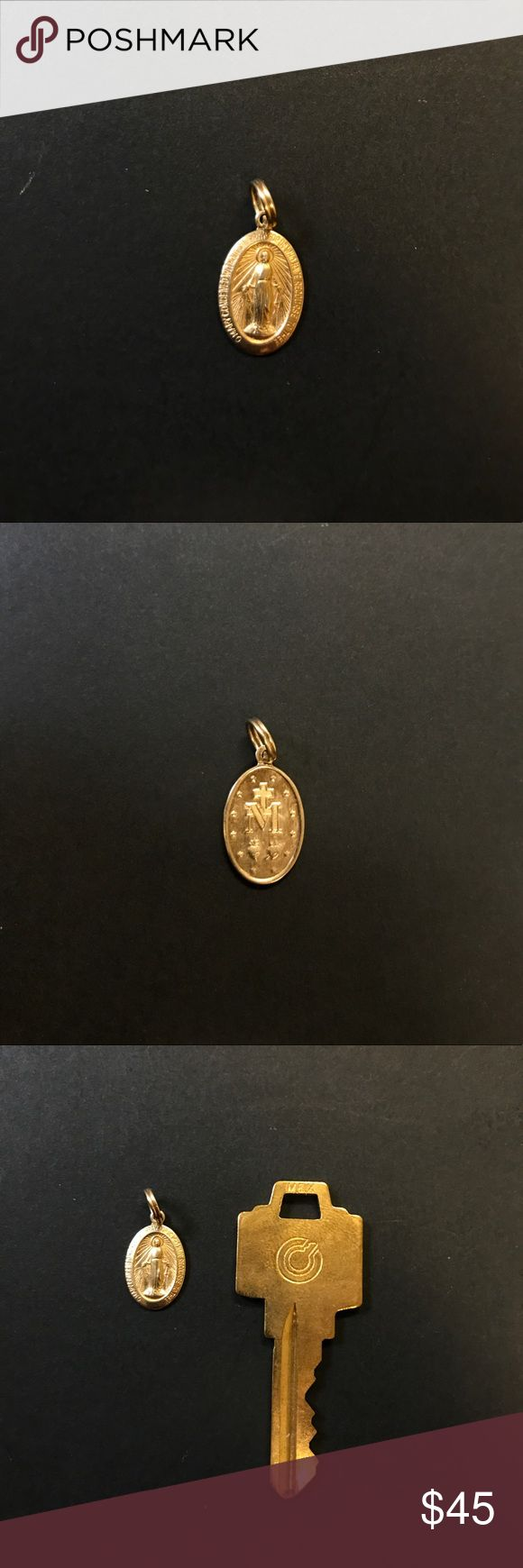 10K GOLD Lady of Guadalupe Pendant - With Receipt! 10K Gold Our Lady of Guadalupe Chain Pendant Charm  Purchased from Piercing Pagoda Accessories Jewelry