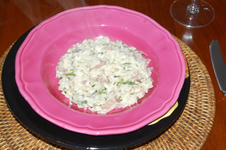 ITALIAN White Risotto with Pancetta, Red Onion, Parmesan  -- from the lovely people at Giardini di Sole ;-).: Di Sole, White Risotto, Red Onions, Amy Food, Giardini Di, Favorit Food, Italian White, Food Fun