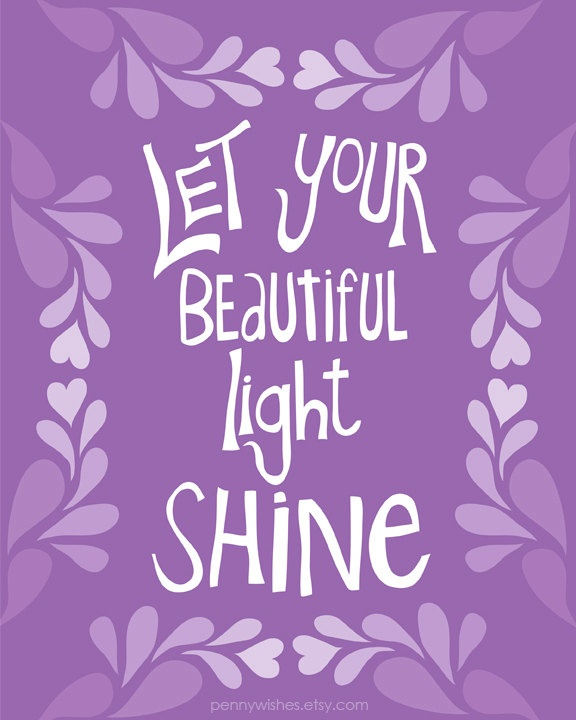 Shine  8x10 Art Print purple   other colors by pennywishes on Etsy. , via Etsy.